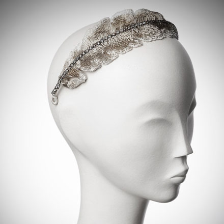 Feather bridal headdress