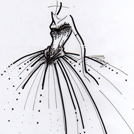 Ball Gown Wedding Dress Sketches